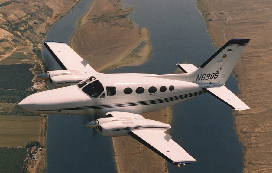 Cessna 400 Series aircraft with PowerPac Spoilers deployed.